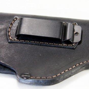 Кобура поясна для пістолета АПС Стечкіна не формована з кліпсою Шкіра Чорна Beneks A121