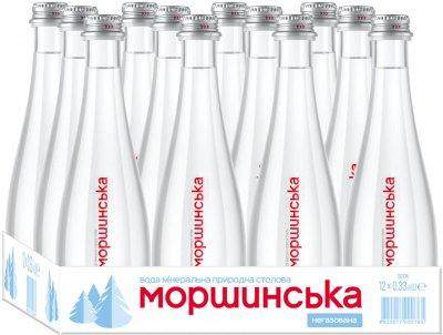 Упаковка минеральной природной столовой негазированной воды Моршинська Premium 0.33 л х 12 бутылок (4820017000581_234929)