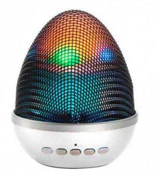Колонка портативная Bluetooth USB WSTER WS-1802 FM, AUX Silver (Серебро)