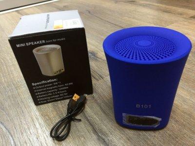 Колонка портативная FM, AUX, USB Bluetooth LVD B101 Blue (Синий)