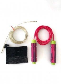 Скакалка AURA sport з обважнювачами рожева 00118