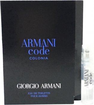Пробник Туалетная вода для мужчин Giorgio Armani Armani Code Colonia 1.2 мл (3614270692437)