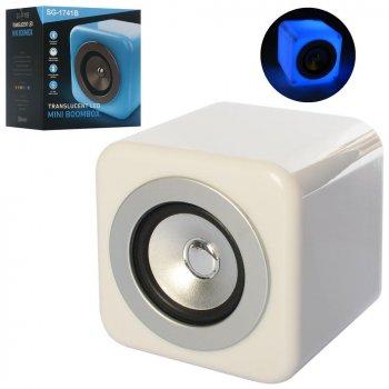 Колонка Metr+ SG-1741B аккумулятор, bluetooth, MP3, 6 режимов света, USB зарядное