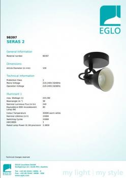 Бра Eglo SERAS 2 98397