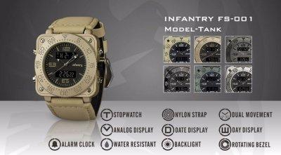 Чоловічі армійські годинник Infantry Tank