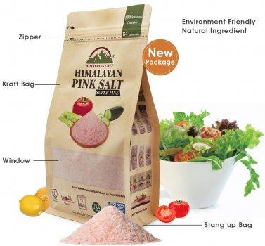 Натуральная гималайская розовая соль Himalayan Chef Супер мелкая 227 г (818581014077)