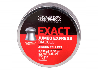 Пули пневм JSB Diabolo Exact Jumbo Express 5,52 мм 0,930 гр. (250 шт/уп)