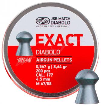 Кулі пневм JSB Diabolo Exact 4,5 мм , 0,547 гр. (200 шт/уп)