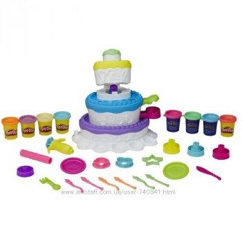 Набор пластилина Play-Doh Праздничный торт Hasbro 2 в 1 (8 банок)