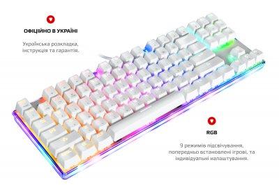 Клавіатура дротова MOTOSPEED K87S RGB USB ENG, UKR, RUS Outemu Red, (mtk87smr)