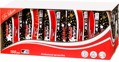 Паперові рушники Mildi De Luxe V-fold двошарові 150 аркушів 20 упаковок Білі (4820032450651)