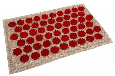 Масажний килимок (аплікатор Кузнєцова) Lounge Mini 32*21 см Червоний
