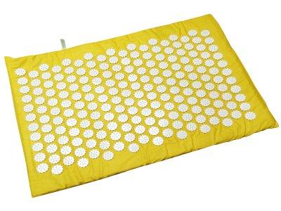 Масажний килимок (аплікатор Кузнєцова) Релакс 55*40 см Жовтий