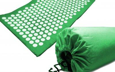 Масажний килимок (аплікатор Кузнєцова) Релакс 165*40 см Зелений