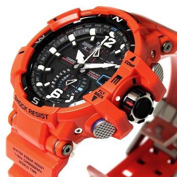 Чоловічий наручний годинник CASIO GW-A1100R-4AER Помаранчевий (nri-1134)