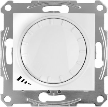 Світлорегулятор поворотно-натискний Schneider Electric Sedna 4-400 Вт Білий (SDN2201221)