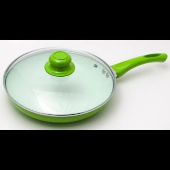Сковорода антипригарная с крышкой Maestro MR-1201-28 Зеленая