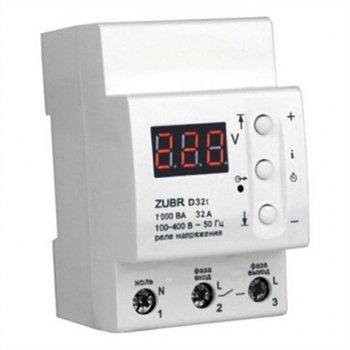 Реле защиты от перенапряжения ZUBR D32t с термозащитой на 32 Ампера