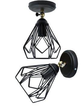 Світильник настінний бра 100lamp Loft Е-27 метал, чорний (NL 538-1b)