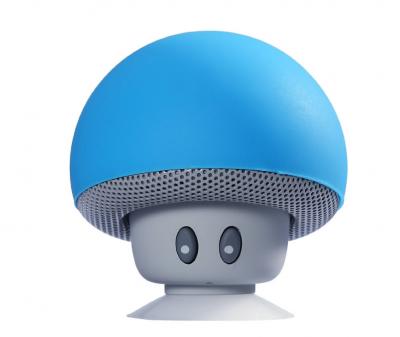 Портативна колонка TOPDCY Bluetooth Грибок блакитний