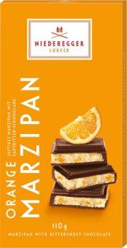 Шоколад Niederegger Марципан з апельсиновим смаком у чорному шоколаді 110 г (4000161060260)