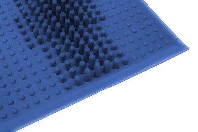 Коврик резиновый WAVE от плоскостопия синий