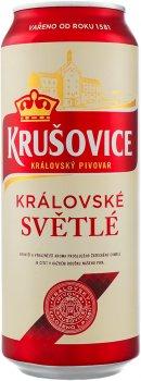 Упаковка пива Krusovice Svetle светлое фильтрованное 4.2% 0.5 л x 24 шт (4820046962164)