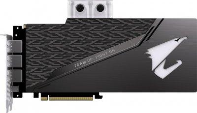 Gigabyte PCI-Ex GeForce RTX 2080 Ti Aorus Xtreme Waterforce 11GB GDDR6 (352bit) (1545/14140) (Type-C, 3 x HDMI, 3 x DisplayPort) (GV-N208TAORUSX WB-11GC)