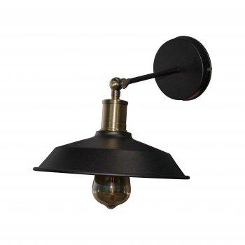 Світильник настінний бра 100lamp Loft Е-27 метал, чорний (NL 108-1)