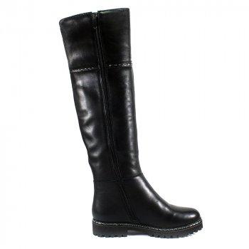 Сапоги зимние женские Lonza X997-1L черная кожа ()