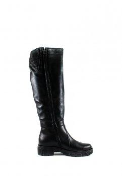Сапоги зимние женские SND SDZ115 черная кожа