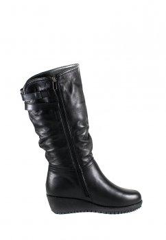Сапоги зимние женские SND 41257-2Б-1 черная кожа