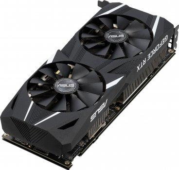Asus PCI-Ex GeForce RTX 2060 Dual OC 6GB GDDR6 (192bit) (1365/14000) (DVI, 2 x HDMI, 2 x DisplayPort) (DUAL-RTX2060-O6G)