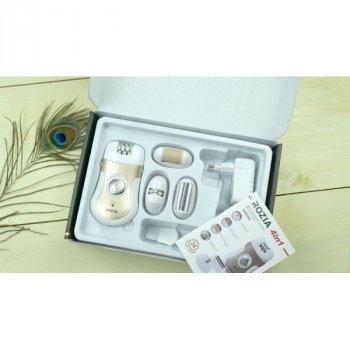 Многофункциональный женский эпилятор 4 в 1 насадки с пинцетами, бритвенная, для шлифовки ступней Rozia HB-6006