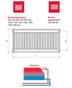 Радиатор HI-THERM Compact 500x900 мм Тип 11 боковой (11-050090-3H-10)