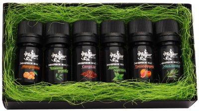 Набір Mayur Тропічний блюз №28 Ефірні масла: мандарина, чайного дерева, сандалу, м'яти перцевої, грейпфрута, евкаліпта 6 х 5 мл (2200160407284)