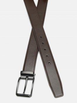 Мужской ремень кожаный Laras CV10026-3-brown 120-130 см Коричневый (ROZ6400028278)