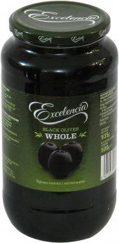 Маслины Exelencia черные с косточкой 240/260 950 мл (8410971034614)