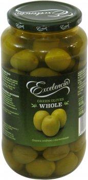 Оливки Exelencia Гордаль зелёные с косточкой 110/150 950 мл (8410971034621)