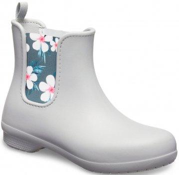 Резиновые сапоги Crocs Women's Freesail Chelsea Boot 204630-95Y Светло-серые