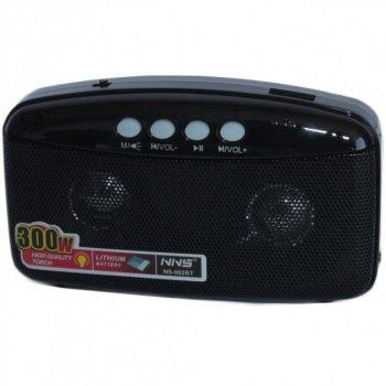 Акустична система NNS радіоприймач FM радіо колонка з Bluetooth та USB виходом Чорний (NNS-002BT)