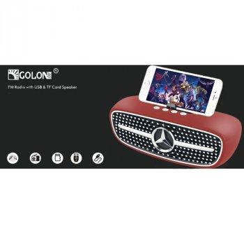 Портативная колонка Golon с подставкой для телефона Bluetooth в стиле Mercedes-Benz 18,5см Красная (RX-X8BT)