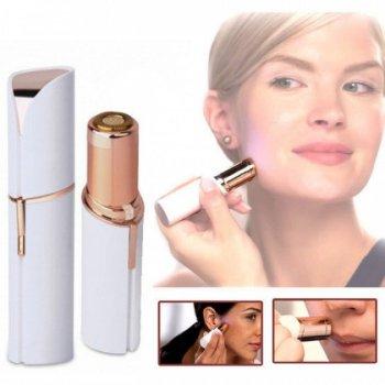 Эпилятор женский для лица Flawless с подсветкой для всех типов кожи 11 см Белый