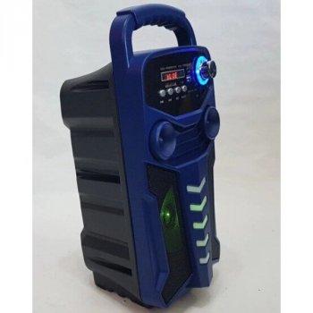 Портативная акустическая система Bluetooth колонка с микрофоном и пультом X-BASS Lige 3610-DT Blue