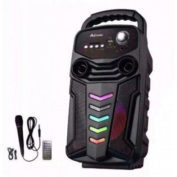 Портативная акустическая система Bluetooth колонка с микрофоном и пультом X-BASS Lige 3610-DT Black