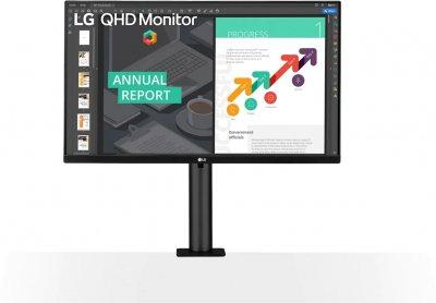 """Монітор 27"""" LG QHD Ergo 27QN880-B USB Type-C"""
