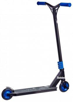 Профессиональный трюковый самокат Maraton Scorpion Black-Blue с пегами