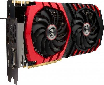 MSI PCI-Ex GeForce GTX 1080 Gaming 8GB GDDR5X (256bit) (1620/10010) (DVI, HDMI, 3 x DisplayPort) (GTX 1080 GAMING 8G)