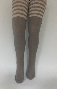 Детские колгтоки для девочек подростков KBS Турция размер 13 рост 158-170 см серые 4-10706