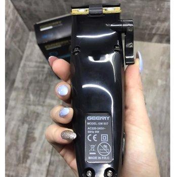 Машинка для стрижки волос Geemy проводная триммер с насадками Чёрно-красная (GM-807)